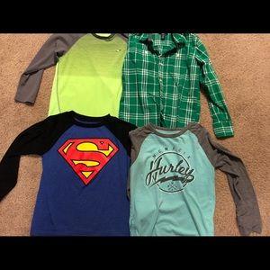 Boys long sleeve shirts size Medium